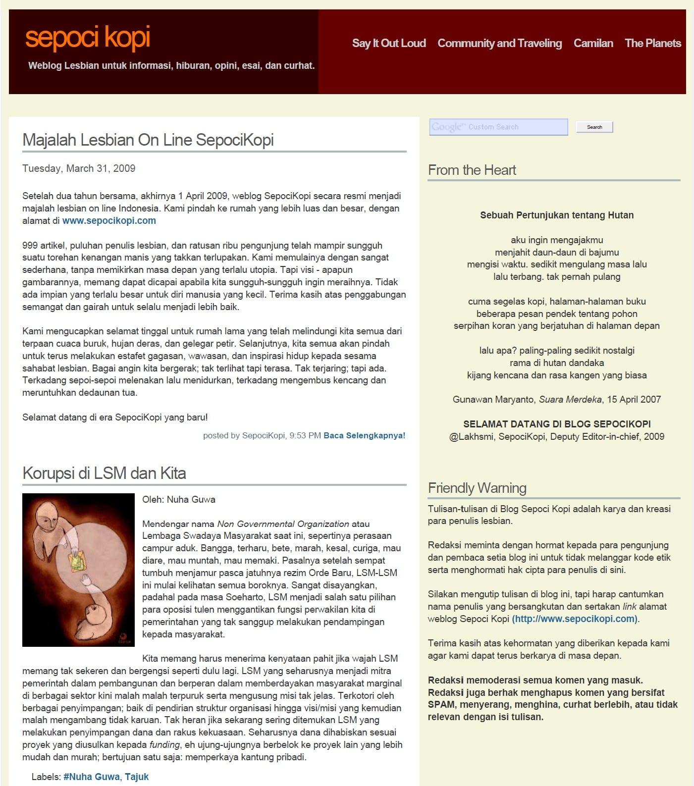 Sepoci Kopi Blogspot 2007